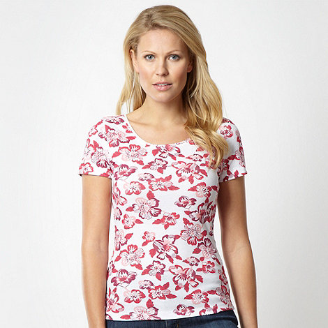 The Collection - Plum pansy print t-shirt