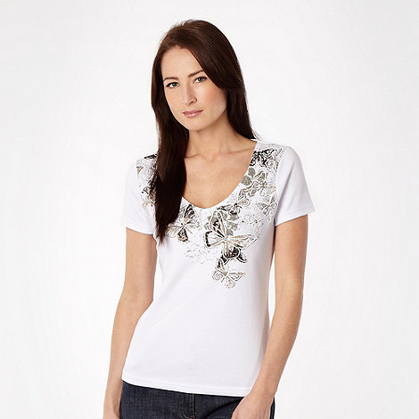 The Collection - White studded butterfly top