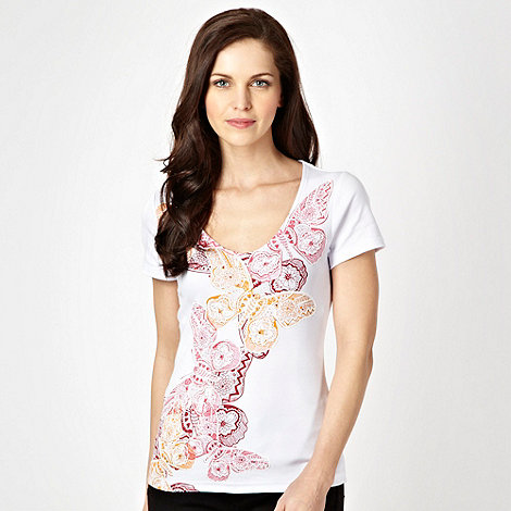 The Collection - White embellished butterfly t-shirt