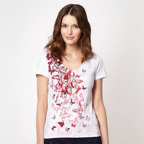 The Collection - Bright pink foil butterfly t-shirt
