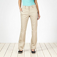 The Collection - Beige tab detail chino trousers