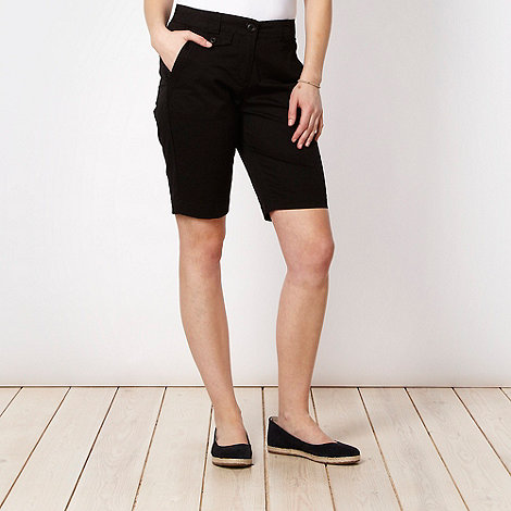 The Collection - Black tab detail chino shorts