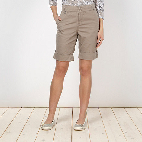 The Collection - Beige tab detail chino shorts