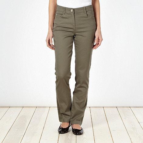 The Collection - Khaki slim leg jeans