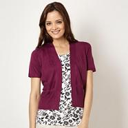 Bright purple short sleeved cardigan
