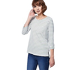 The Collection - Green stripe pocket top