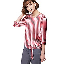 The Collection - Pink stripe tie front top