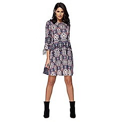 The Collection - Pink tile print jersey mini dress