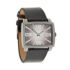 Red Herring - Men's black rectangle dial watch