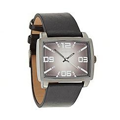 Red Herring - Men's black rectangle dial watch