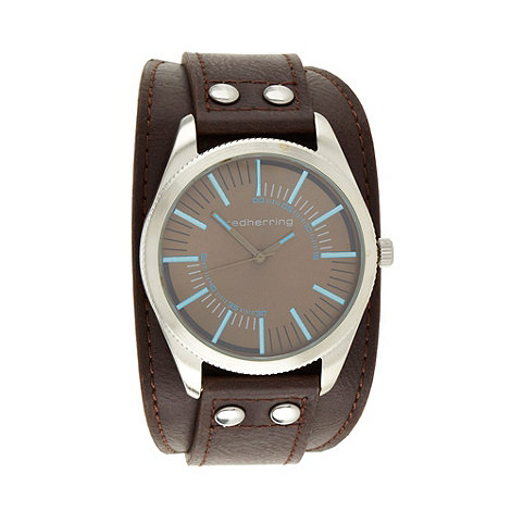 Red Herring - Men+s brown highlighted dial watch