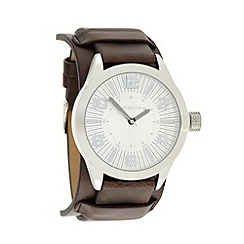 Red Herring - Men's brown cuff strap watch