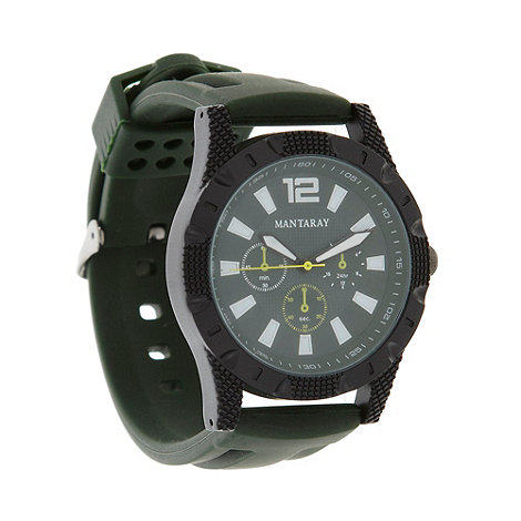 Mantaray - Men+s khaki mock multi dial watch