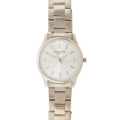 Infinite Men´s silver bracelet analogue watch
