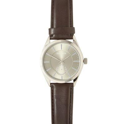 Infinite Men´s brown round dial watch