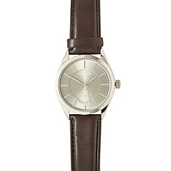 Infinite - Men's brown round dial watch