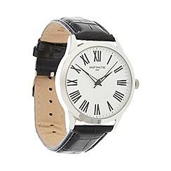 Infinite - Men's black Roman numeral dial watch