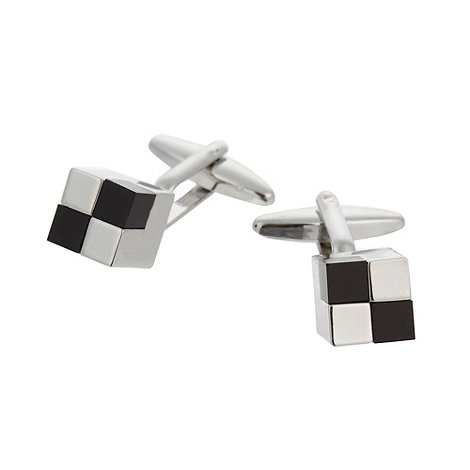 Thomas Nash - Silver two tone cube cufflinks