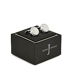 J by Jasper Conran - Silver plated circle cufflinks