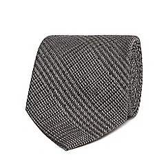 Hammond & Co. by Patrick Grant - Grey Prince of Wales checked tie