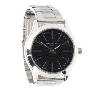Infinite Men´s silver patterned dial bracelet watch - . -