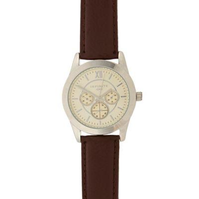 Infinite Men´s brown mock multi dial watch - . -