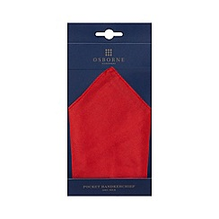 Osborne - Red silk pocket handkerchief