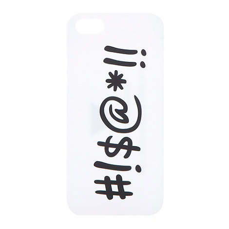 Skinnydip - White slogan iPhone 5 case