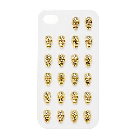 Skinnydip - Gold skull studded iPhone 5 case
