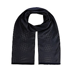 Black Tie - Navy spotted dress scarf