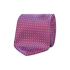 The Collection - Pink dotted silk tie