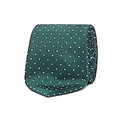 The Collection - Green dotted silk tie