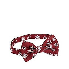 The Collection - Dark red snowflake bow tie