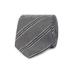 Hammond & Co. by Patrick Grant - Grey striped print tie