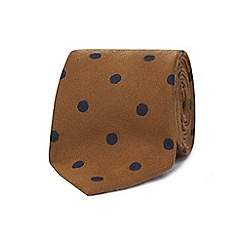 J by Jasper Conran - Gold luxury polka dot slim tie