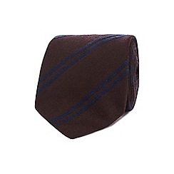 J by Jasper Conran - Wine red double stripe tie