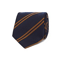 J by Jasper Conran - Navy double stripe tie