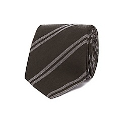 J by Jasper Conran - Khaki double stripe tie