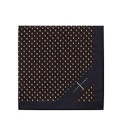 J by Jasper Conran - Navy geometric print pocket square with silk