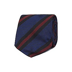 Jeff Banks - Navy stripe silk tie