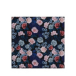 Black Tie - Navy floral print pocket square
