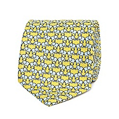 The Collection - Yellow elephant print tie