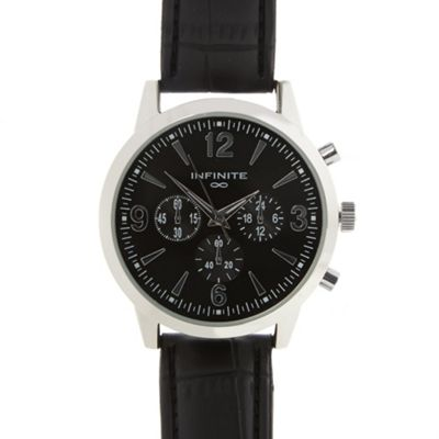 Infinite Men´s black mock chronograph dial watch
