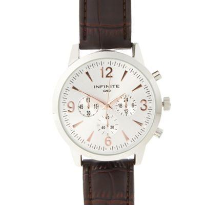 Infinite Men´s brown mock chronograph dial watch