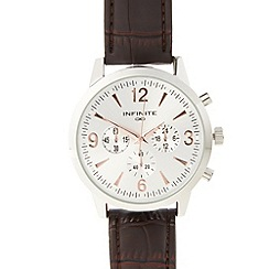 Infinite - Men's brown mock chronograph dial watch