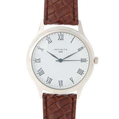 Infinite Men´s brown weave strap watch