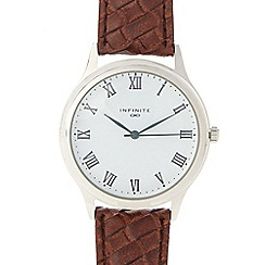 Infinite - Men's brown weave strap watch