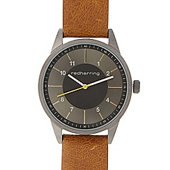 Red Herring - Men's tan contrast dial watch
