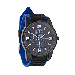 Red Herring - Men's blue rubber strap watch