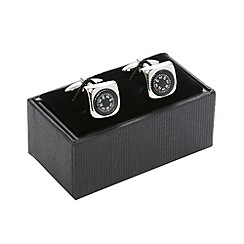 Thomas Nash - Silver compass cufflinks